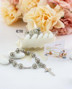bomboniera rosario su tubicino avanti e retro