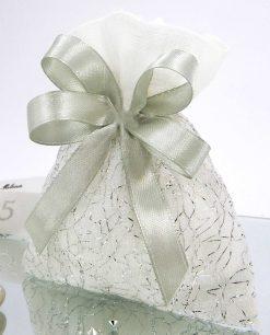 bomboniera sacchettino argento per 25 anni matrimonio