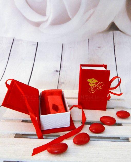 bomboniera scatolina portaconfetti rossa laurea