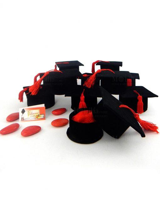 bomboniera scatolina portaconfetti tocco nero