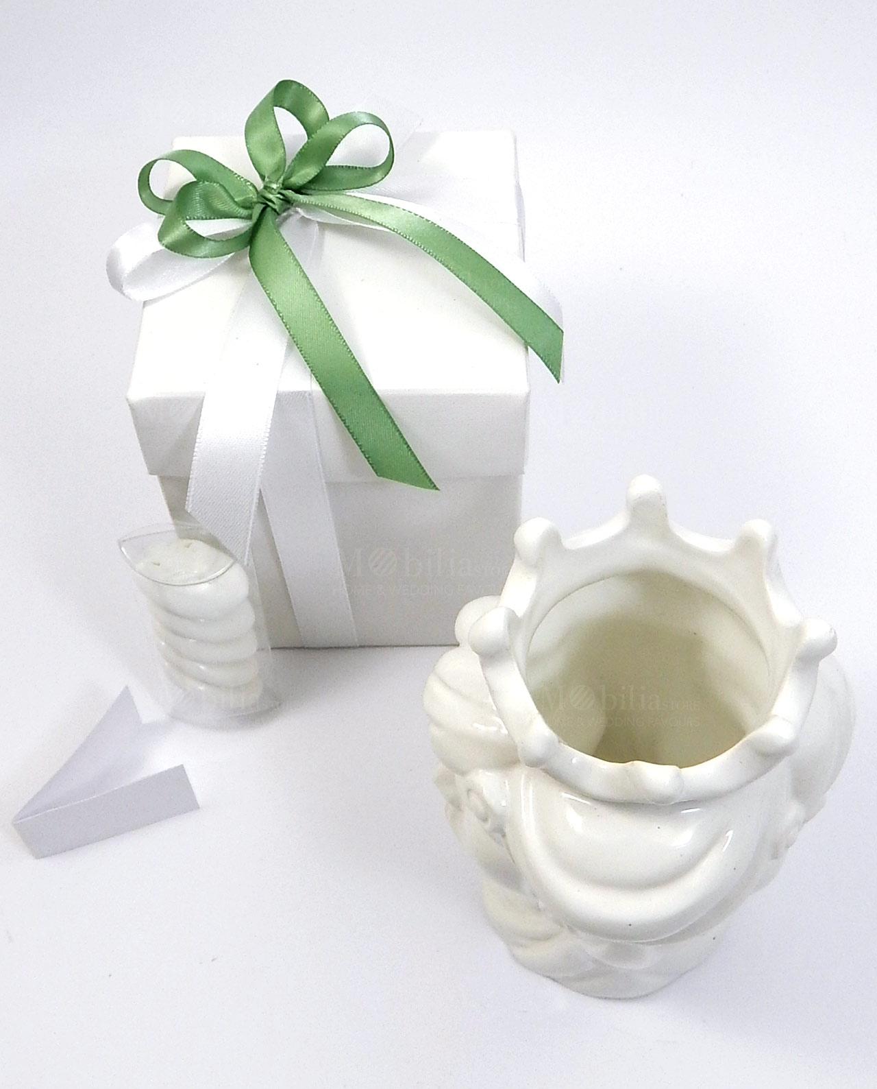 Bomboniera testa di moro bianca in ceramica insieme per for Mobilia e un insieme di