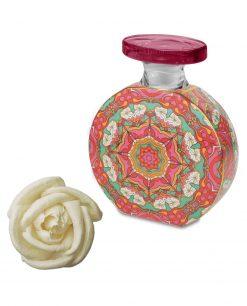 bottiglia profumatore decorato caroline con fiore 225 ml baci milano