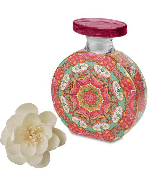 bottiglia profumatore in porcellana decorata caroline con fiore 375 ml baci milano