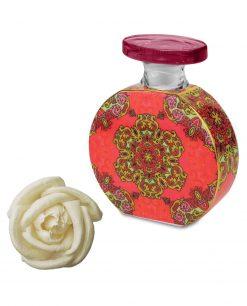 bottiglia profumatore in porcellana decorata vivianne con fiore 225 ml foulard baci milano