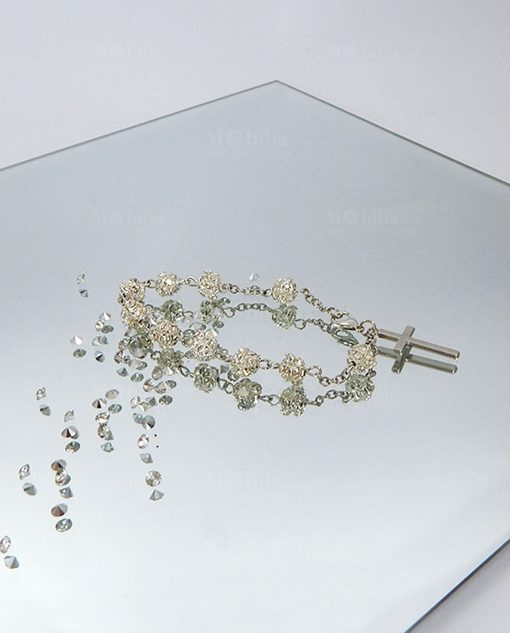 bracciale rosario argento swarovski