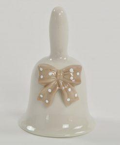 campanella in porcellana con fiocco