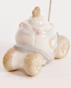 carrozza segnaposto in porcellana per bomboniera 1