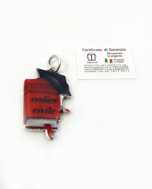 ciondolo codice civile tabor made in italy