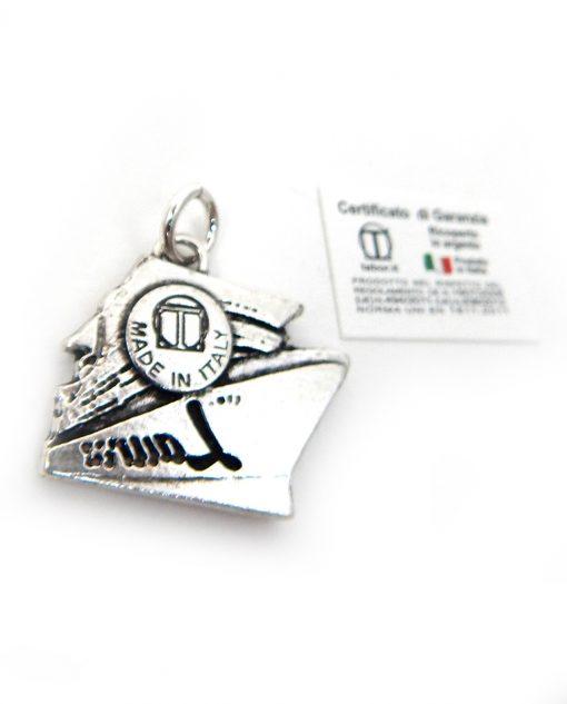 ciondolo nave argento made in italy tabor