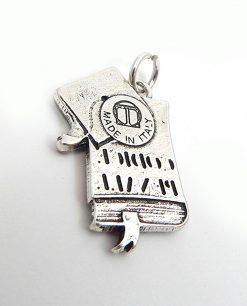 ciondolo tabor codice penale argento e smalto made in italy