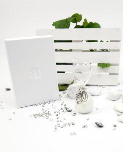 clessidra ciondolo 50 argento con scatola tabor
