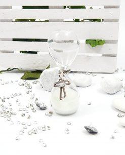 clessidra vetro con ciondolo croce nuova collezione tabor