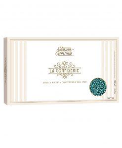 confetti maxtris perline sferiche metalizzate azzurre