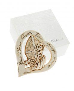 icona cuore con cappello papale e dedica
