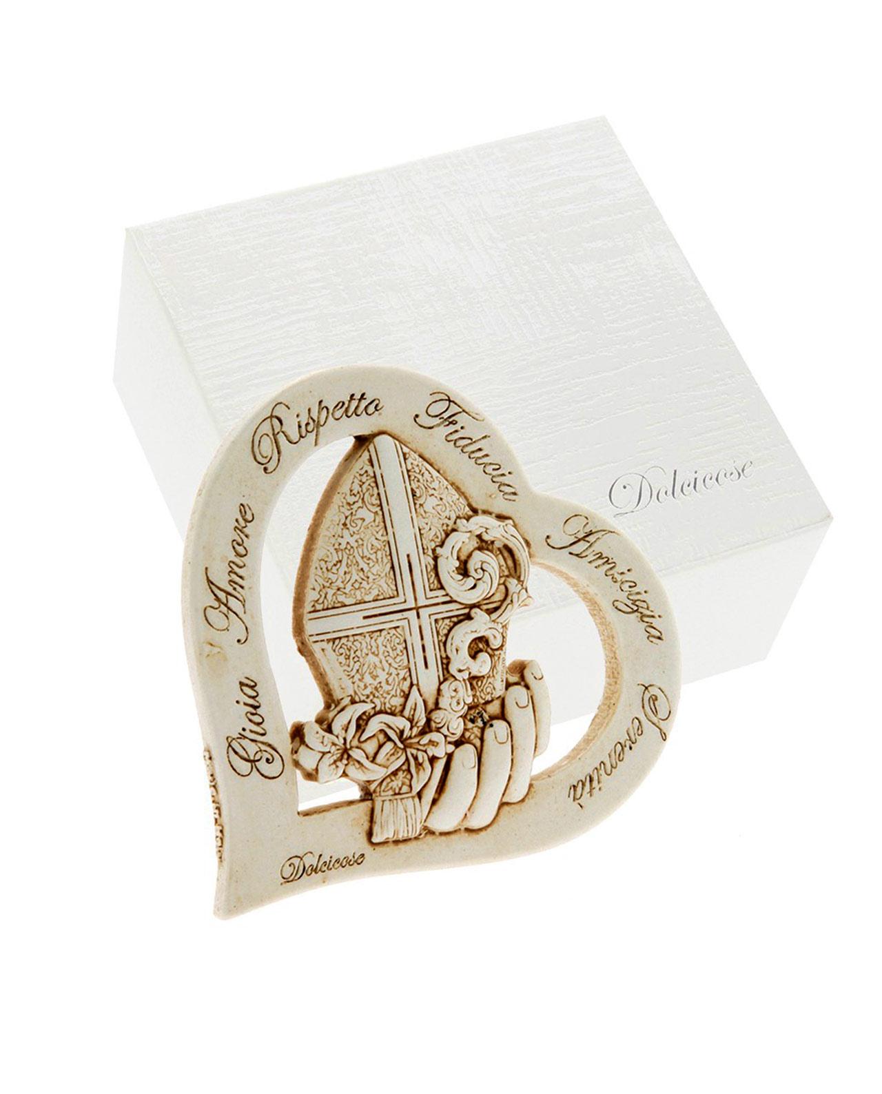 Icona cuore cresima con scritte per bomboniere mobilia for Mobilia mega store ottaviano