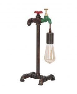 lampada da tavolo stile industrial con rubinetto mauro ferretti
