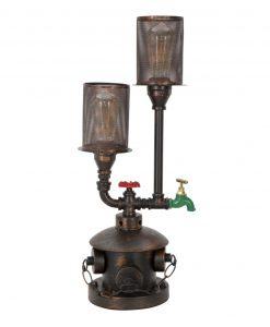 lampada idrante da tavolo in ferro mauro ferretti