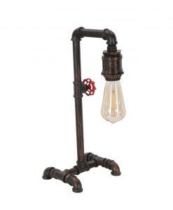 lampada particolare a forma di rubinetto con manopola rossa mauro ferretti