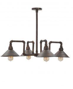lampadario 4 fiamme in ferro antichizzato mauro ferretti