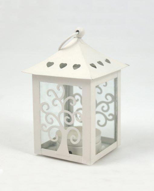 lanterna bianca con albero della vita per bomboniere