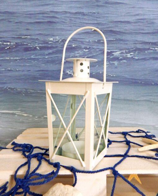 lanterna portacandela metallo quadrata con manico