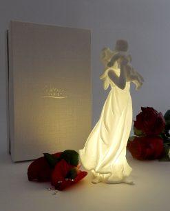 maternità statua con bambino morena design