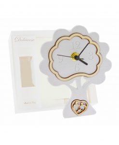 orologio albero bianco con cuore sacra famiglia