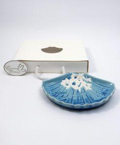 piattino conchiglia in ceramica decorata per bomboniere fai da te