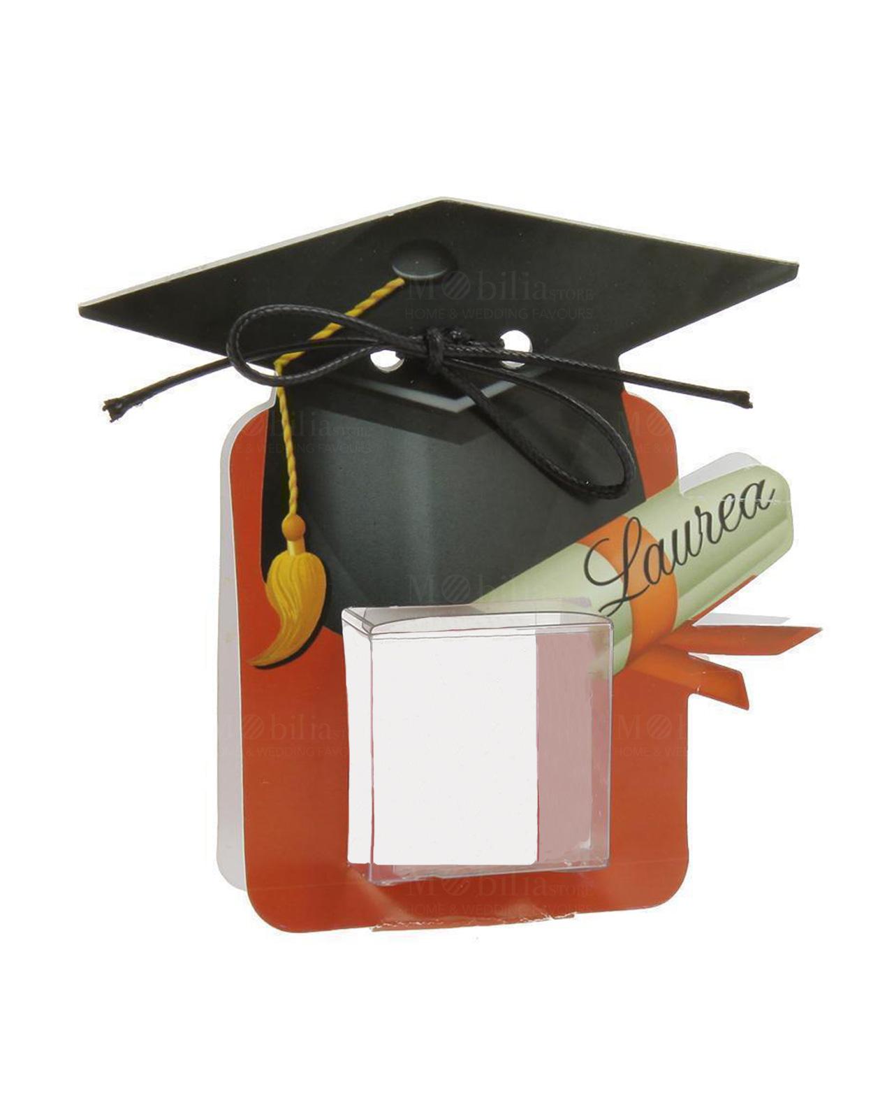 Astuccio cartoncino rosso tocco e pergamena con cubo pvc per ... 0c9f471e1744