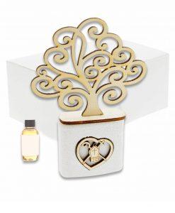 profumatore albero della vita legno con cuore e cappello papale