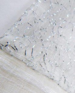 sacchetto in cotone con fili argento