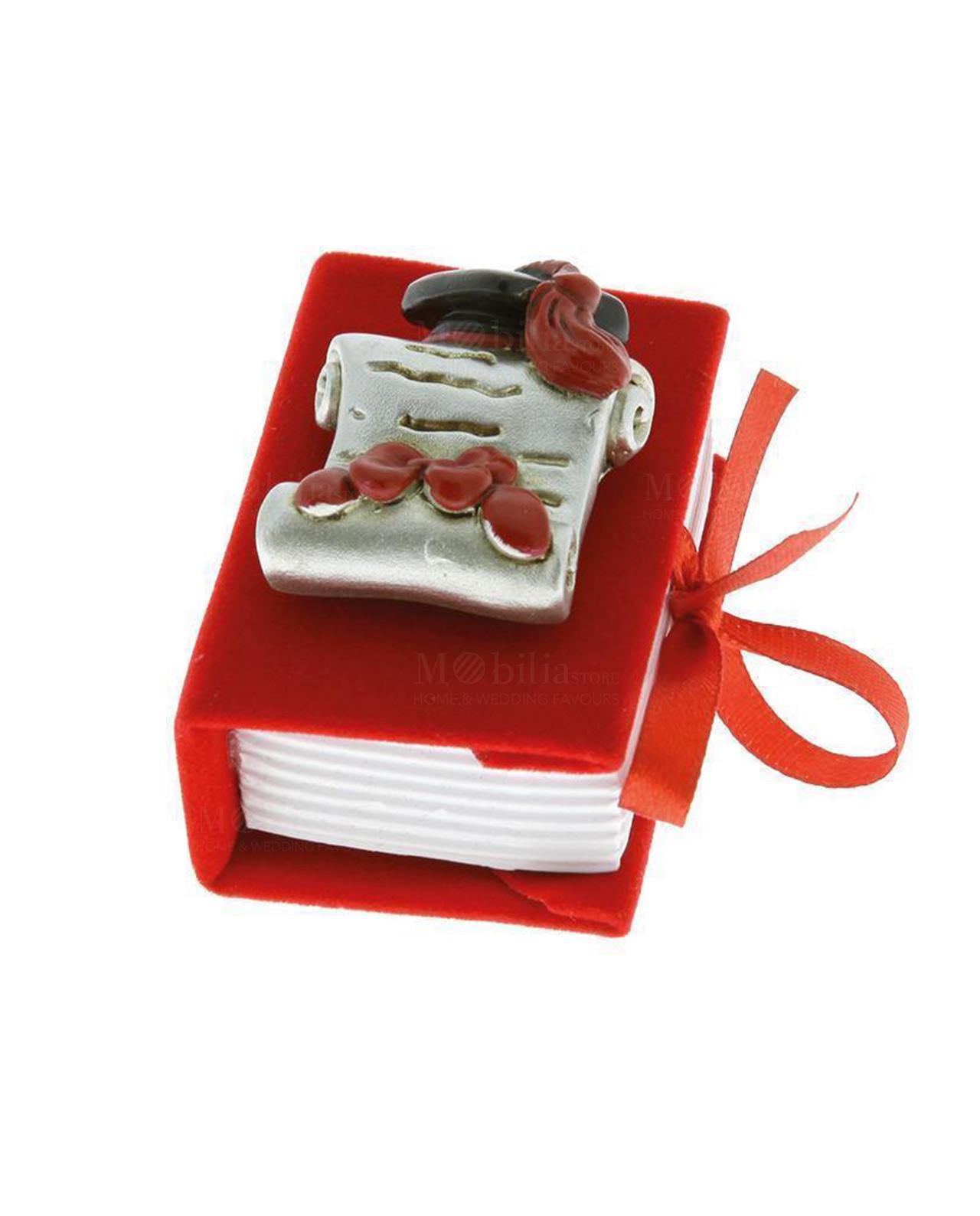 Scatolina portaconfetti a forma di libro con placca pergamena ... dad2464be87c