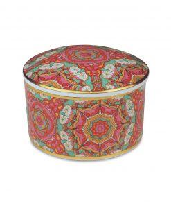 scatolina in porcellana con gomma arabica caroline maroc e roll baci milano