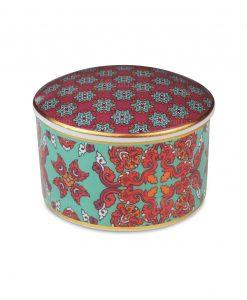 scatolina in porcellana con gomma arabica elizabeth baci milano