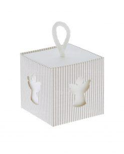 scatolina portaconfetti con angioletto
