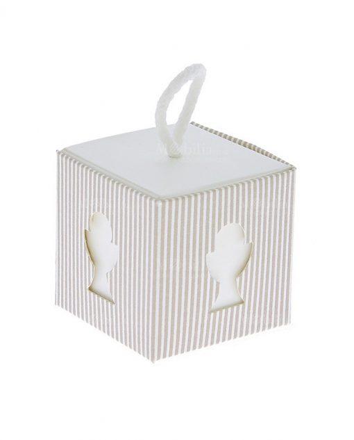 scatolina portaconfetti per comunione in cartoncino