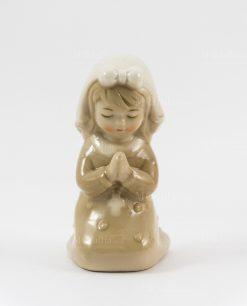 sculturina bambina che prega piccola