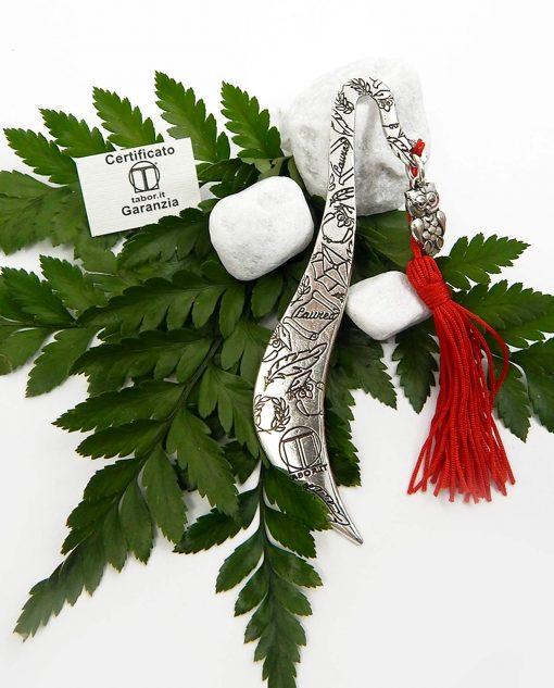 segnalibro argento gufo per bomboniere laurea