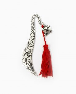 segnalibro con tocco e nappina in argento nuova collezione tabor