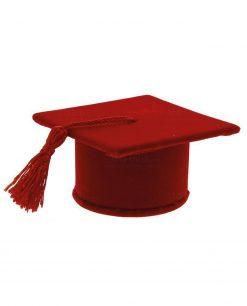 segnaposto laurea tocco rosso