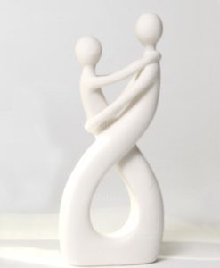 sposini in ceramica bianca ad emzoioni linea abbracci