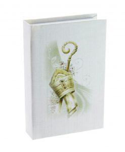 vangelo cartoncino bianco con cappello papale oro