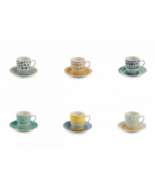 Set 6 tazzine caffè Marea Villa dEste