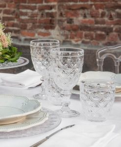 bicchieri in aacrilico trasparente