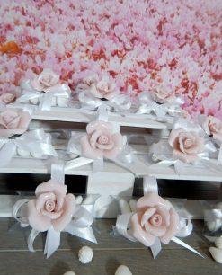 bomboniera calamita rosa porcellana