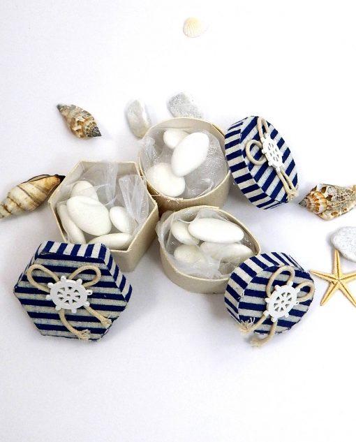 bomboniere scatoline tema mare varie forme con timone