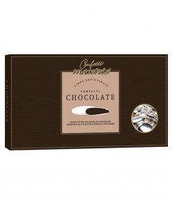 confetti maxtris argentati al cioccolato