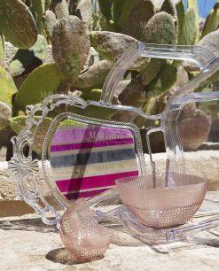 coppette frutta acrilico rosa