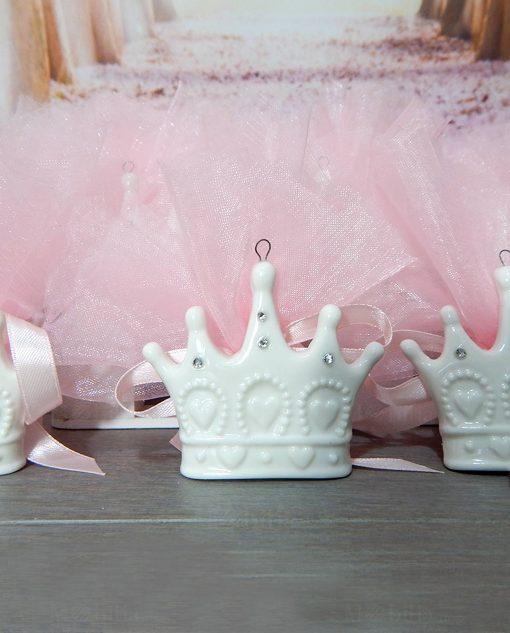 corona in porcellana su sacchetto
