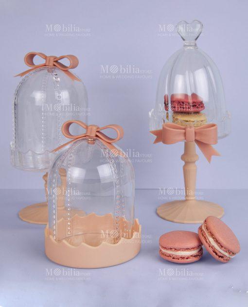 mini alzate per dolci acrilico e silicone